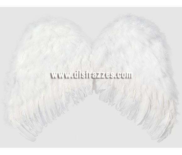 Alas de Ángel plumas blancas de 65 x 48 cm.