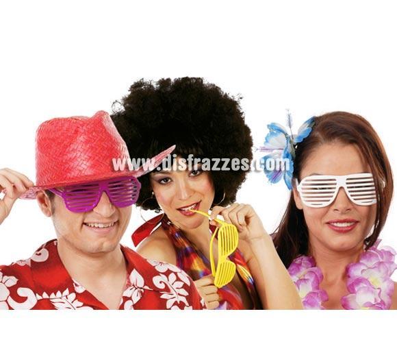 Gafas Hawai de colores surtidos para tus Fiestas de Verano, Hawaianas, Despedidas de Soltero y para Carnaval.