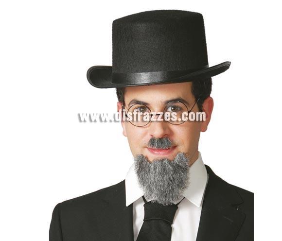 Sombrero de Copa o Chistera de fieltro negro para adultos. Perfecta como complemento de disfraz de Mago y también de Crupier o Croupier.
