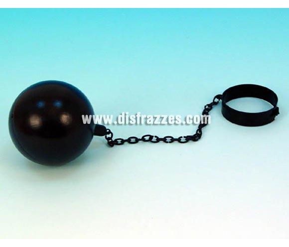 Bola de Presidiario o Prisionero con cadena para Carnavales o para Halloween. Ideal también como complemento de tu disfraz de Preso para Despedidas de Soltero.