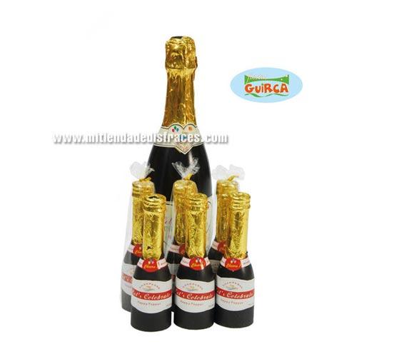 Botella de Champán lanza-confeti de 33 cms.