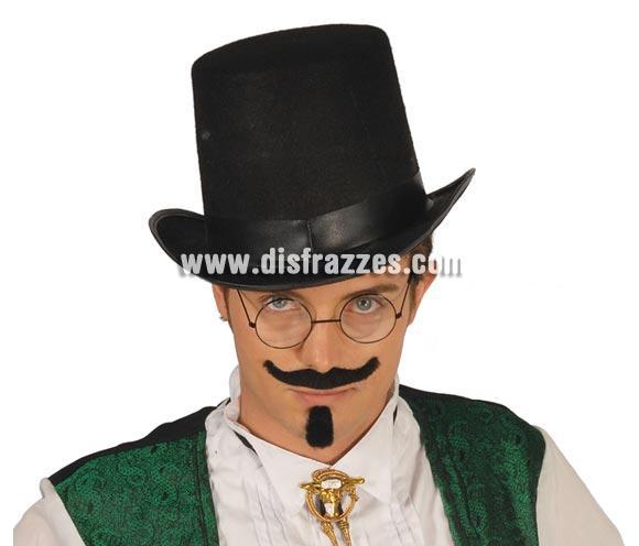Sombrero fieltro chistera alta 15 cms. Perfecto para disfraces de Crupier o Croupier, también de Mago.