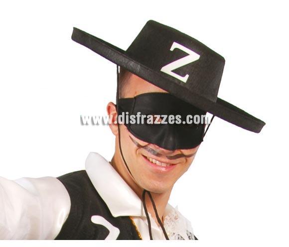 Sombrero de El Zorro de fieltro negro.