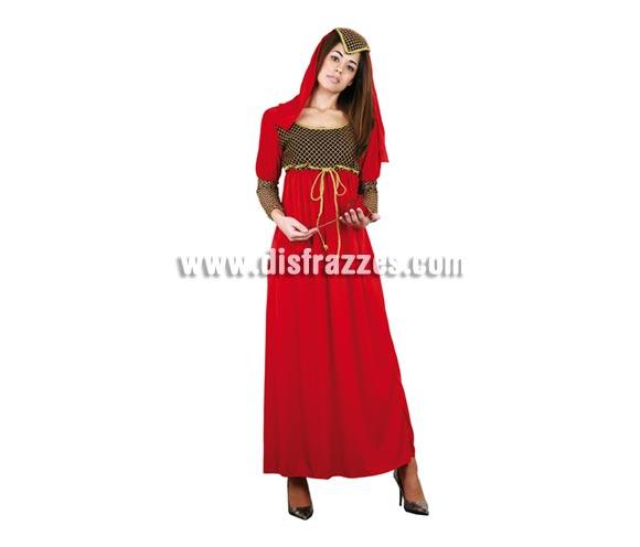 Disfraz de Julieta adulta. Talla Standar M-L 38/42. Incluye vestido y tocado.