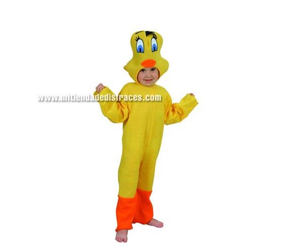 Disfraz de Canario niño talla de 3 a 4 años. ¡¡¡Hay que ver cómo se parece a Piolín!!!