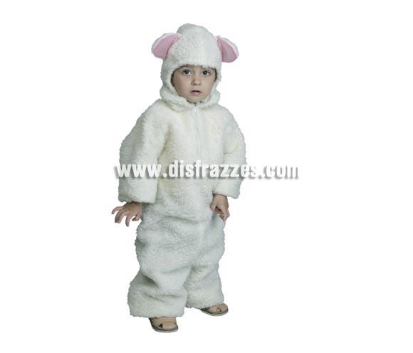 Disfraz de Ovejita Blanca talla de 3 a 4 años. Incluye mono con capucha.