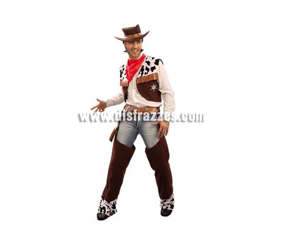Disfraz de Vaquero adulto. Talla standar M-L 52/54. Sombrero, cartuchera y pistolas NO incluidos, podrás verlos en la sección Complementos. Éste traje de Pistolero es todo un clásico que no puede faltar en ninguna Fiesta de disfraces que se precie ni en Carnavales.