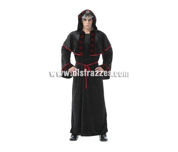 Disfraz de Sacerdote Maligno adulto para Halloween. Talla estándar M-L = 52/54. Disfraz barato para Halloween que incluye traje con capucha y cinturón.