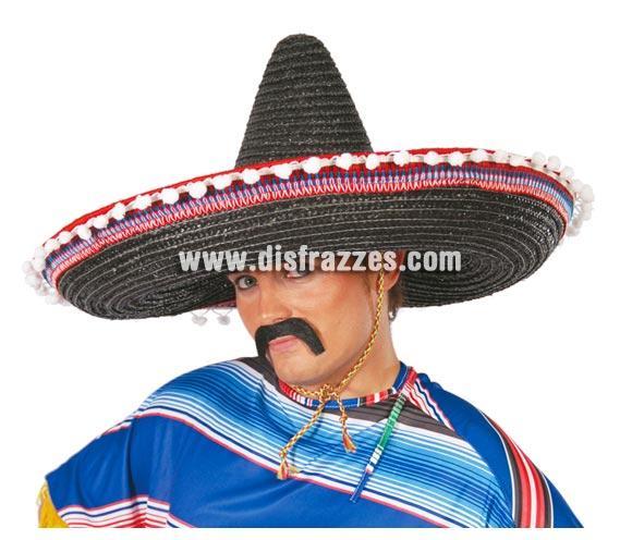 Sombrero Mejicano paja 65 cms. Disponible en 5 colores surtidos. Precio por unidad, se venden por separado.