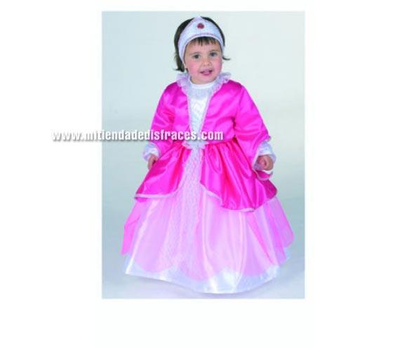 Disfraz de Princesita talla de 3 a 5 años. Alta calidad. Hecho en España. Incluye tocado y vestido.