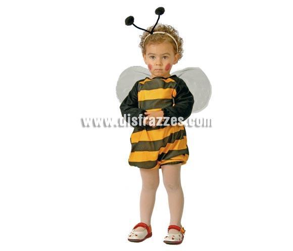 Disfraz de Abeja Baby para Carnaval. Talla de 1 a 2 años. Para sentirse como la Abeja Maya. Incluye vestido con alas y antenas de la cabeza.