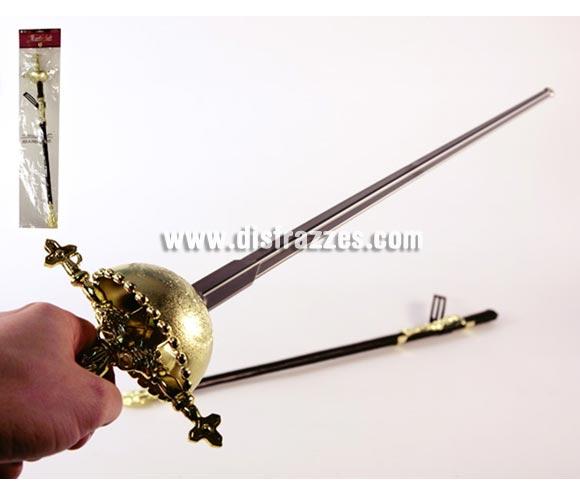 Florete con funda para Carnaval. Medidas del embalaje 71x17 cm. Espada ideal como complemento de tu disfraz de Mosquetero o Mosquetera.