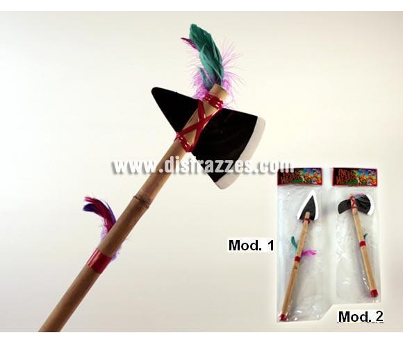 Hacha o lanza de Indio de 50 cm. dos modelos surtidos, precio por unidad, se venden por separado.