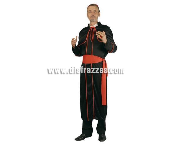 Disfraz barato de Cardenal adulto para Carnavales. Talla única 54/56. Incluye traje, birrete y fajín. Disfraz ideal también para despedidas de soltero.