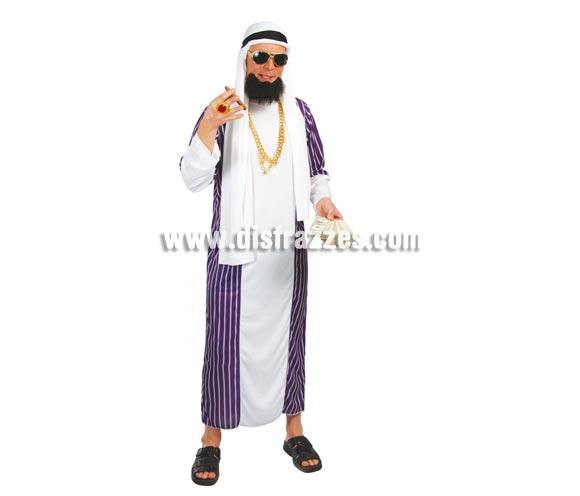 Disfraz barato de Árabe o de Jeque adulto para Carnavales. Talla única 52/54. Incluye tocado y túnica.