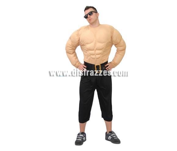 Camisa Forzudo o Pecho Musculoso para adultos. Talla única 52/54. Incluye camisa. Pantalón y cinturón NO incluidos.