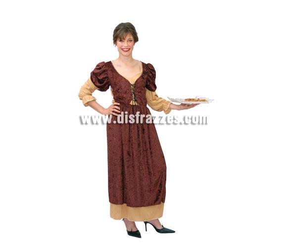 Disfraz barato de Posadera o Mesonera Medieval para mujer