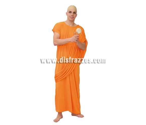 Disfraz barato de Hare Krishna adulto para Carnavales. Talla única 52/54. Incluye túnica. Pandereta y calva NO incluidas, podrás verlo en la sección de Complementos. Disfraz de Buda o Budista para hombre.