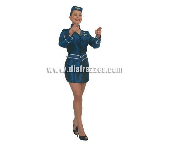 Disfraz de Azafata adulta para Carnavales. Talla única 42/44. Incluye gorro, cuello, traje y cinturón. ¡¡Compra tu disfraz para Carnaval en nuestra tienda de disfraces, será divertido!!