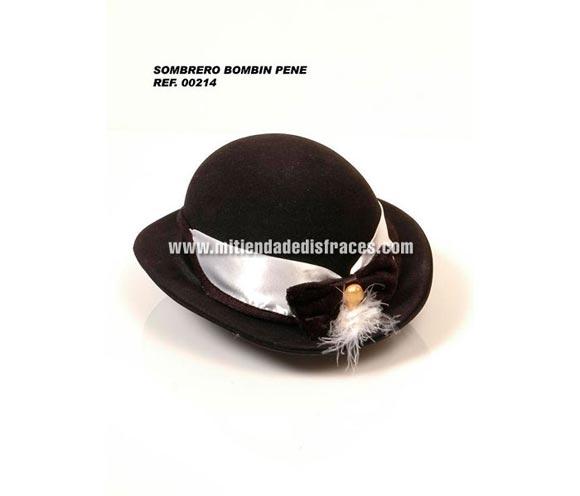 Sombrero bombin de plástico con pene. Perfecto para Despedidas de Soltero o Soltera.