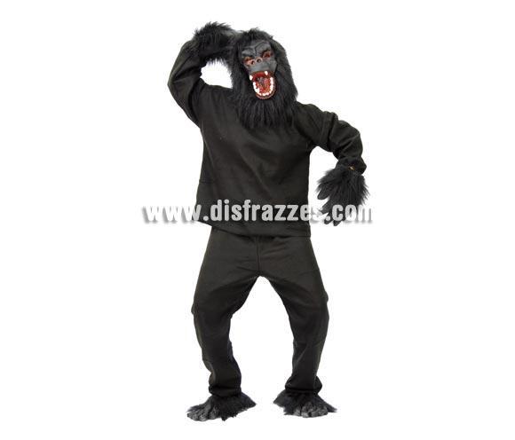 Disfraz de Gorila negro adulto para Carnavales. Talla única 52/54. Incluye cabeza, casaca, manos, pantalón y pies.