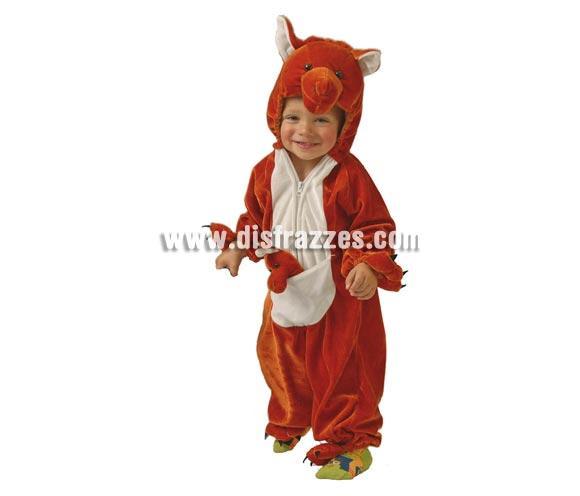 Disfraz barato de Canguro Baby marrón para Carnavales. Talla de 12 a 24 meses. Incluye mono con capucha. NO incluye ni cubrepies ni cubrezapatos.