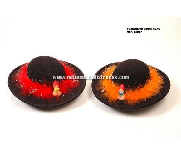 Sombrero cura de plástico con pene. Se venden por separado. Perfecto para Despedidas de Soltero o Soltera.