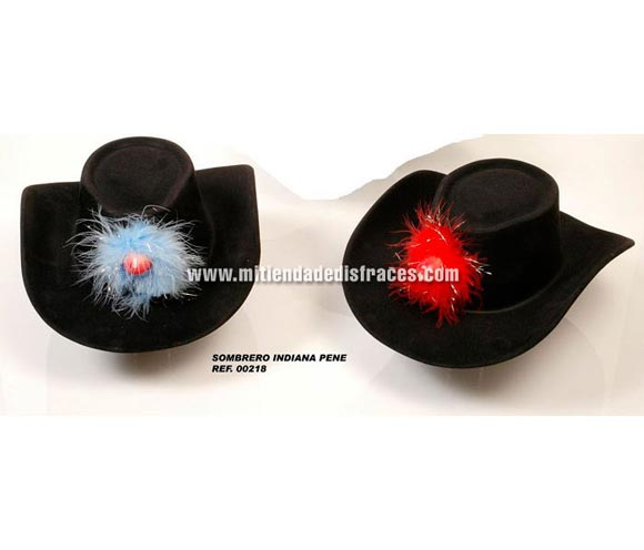 Sombrero Indiana de plástico con pene. Se venden por separado. Perfecto para Despedidas de Soltero o Soltera.
