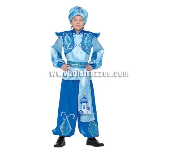 Disfraz de Aladino para niños. Talla de 7 a 9 años. Incluye turbante, casaca, fajín y pantalón. Disfraz de Árabe infantil ideal para Fiestas y Carnavales.