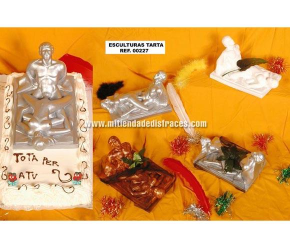 Esculturas tarta. Se venden por separado. Perfecto para Despedidas de Soltero o Soltera.