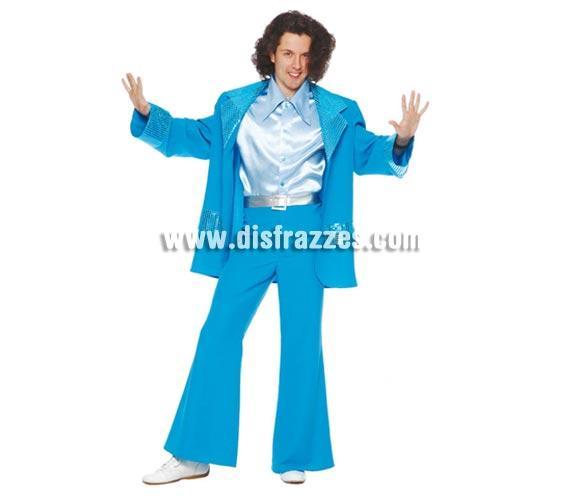 Disfraz de Años 70 Hombre adulto para Carnaval o Fiestas. Talla única 52/54. Incluye chaqueta, camisa, cinturón y pantalón. ¿Recuerdas la película Fiebre deL sábado noche?.