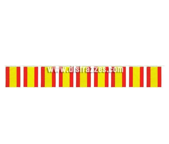 Bandera España de Plástico de 20x30 cm. Bolsa de 50 mts. Ideal para decorar locales, Comparsas y Fiestas de todo tipo.