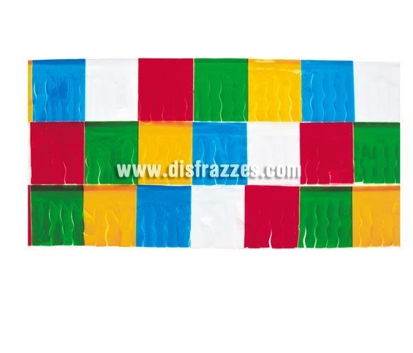 Bolsa de 25 mts. de Fleco de plástico Multicolor. Ideal para decorar locales, Comparsas y todo tipo de Fiestas.