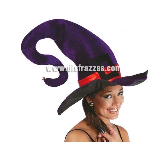 Sombrero de Bruja lila con ala moldeable.