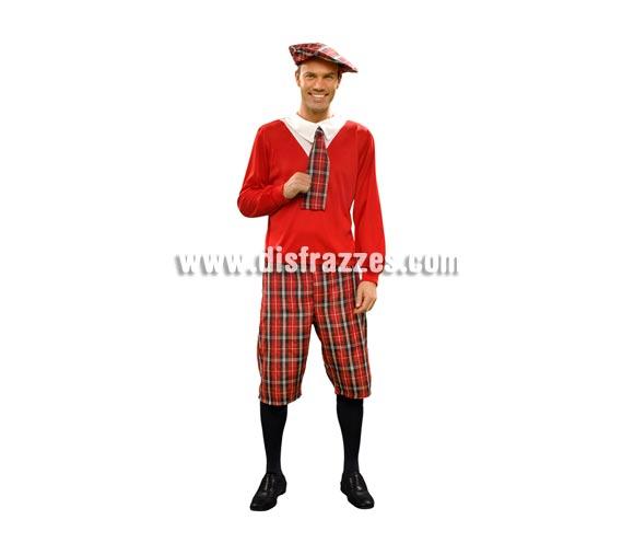 Disfraz de Colegial para hombre. Talla Standar M-L 52/54. Incluye boina, camisa, corbata y pantalones.