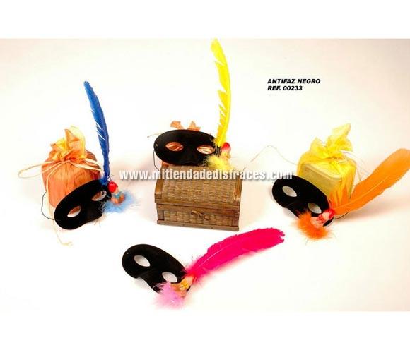 Antifaz negro con pene y pluma para Despedidas