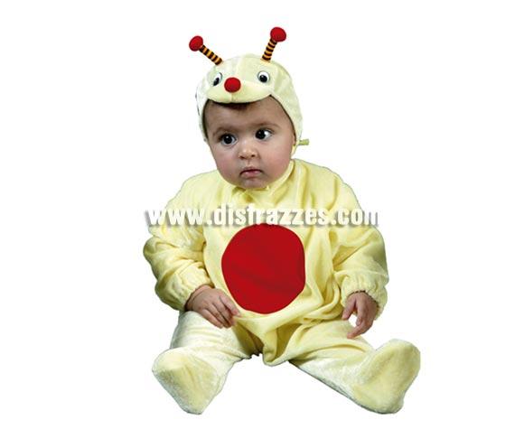 Disfraz barato de Bichito Bebé para Carnaval. Talla de 6 a 12 meses. Incluye mono y gorro.