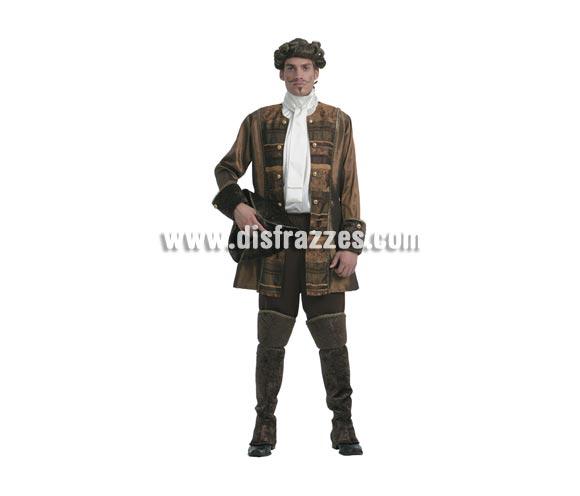 Disfraz de Príncipe gótico de lujo económico. Talla Standar M-L = 52/54. Incluye sombrero, chaqueta, camisa, pantalón y cubrebotas.
