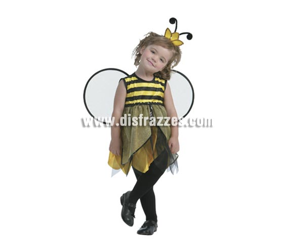 Disfraz de Hada Abeja talla de 3 a 4 años. Incluye vestido, tocado y alas. Medias NO incluidas. Que bonita está la niña, me recuerda a la Abeja Maya.
