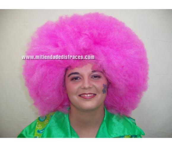 Peluca super afro rosa. Muy buena calidad. Fabricada en España. Talla universal.
