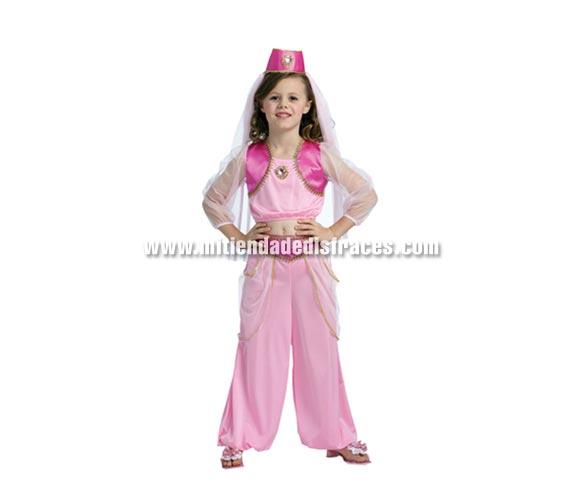 Disfraz de Princesa Árabe niña talla de 7 a 9 años. Incluye top, pantalones y gorro con velo.