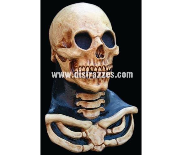 Máscara de Calavera de cuello largo para Halloween. Long Neck Skull Máscara de látex. Alta calidad. Fabricada en látex artesanalmente por una empresa que realiza efectos especiales para Hollywood. Máscara o Careta de Halloween.