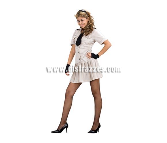 Disfraz de Policía Americana Sexy para mujer. Talla standar M-L = 38/42. Incluye corbata, vestido y guantes.