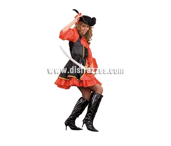 Disfraz de Corsaria Sexy adulta. Talla Standar M-L = 38/42. Incluye gorro, gargantilla y vestido. Disfraz de Pirata Sexy para mujer.
