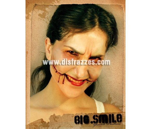 Maquillaje gran sonrisa para Halloween. Big Smile FX. Artículo de Maquillaje FX fabricado en látex ideal para caracterizarte en Carnaval o en Halloween.