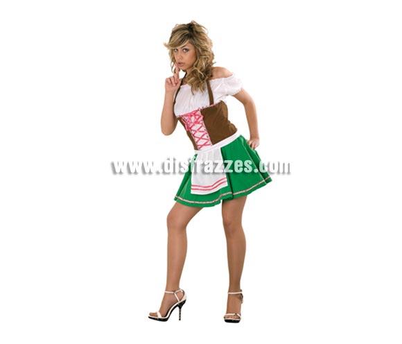 Disfraz barato de Tirolesa Sexy para mujer. Talla Standar M-L 38/42. Incluye vestido y delantal. Disfraz que también se usa mucho para Despedidas con el cual, podéis dar una agradable sorpresa a vuestros chicos.