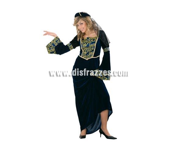 Disfraz barato de Dama Medieval de la Corte adulta. Talla standar M-L 38/42. Incluye tocado y vestido. Éste traje es genial para Ferias o Fiestas Medievales.