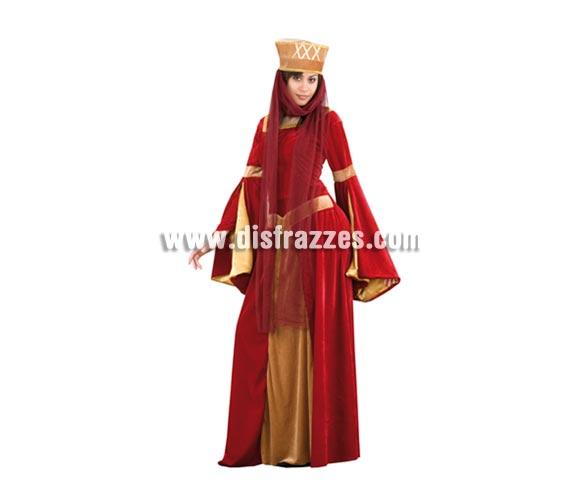Disfraz barato de Lady Ginebra para mujer. Talla Standar M-L = 38/42. Incluye tocado con tul y vestido. Un disfraz Medieval para mujer que ha tenido muy buena acogida por su bonito diseño y su excelente relación calidad - precio.