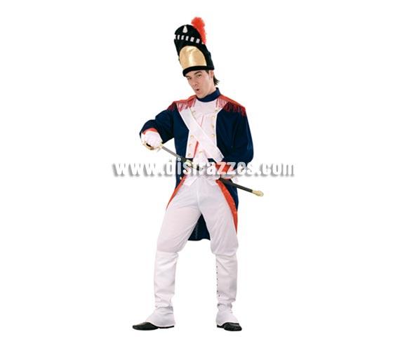 Disfraz de Soldado Francés o Granadero adulto apara Carnaval. Talla Standar M-L 52/54. Incluye gorro, chaqueta, banda, pantalón, polainas y guantes. Espada NO incluida, podrás verla en la sección de Accesorios.