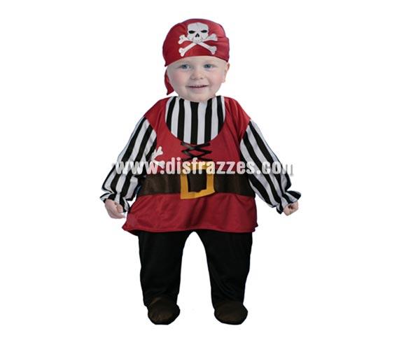 Disfraz de Pirata Bebé niña. Talla de 6 a 12 meses. Incluye pañuelo y mono (es el disfraz).